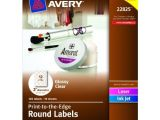 Avery 1 Inch Round Labels Template Avery Print to the Edge Round Labels Glossy Clear 2