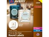 Avery 1 Inch Round Labels Template Avery Print to the Edge Round Labels Glossy White