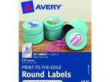 Avery 1 Inch Round Labels Template Avery Print to the Edge Round Labels Matte Silver Foil