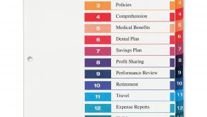 Avery 15 Tab Table Of Contents Color Template 7 Best Images Of Word Printable Tab Index Page Blank
