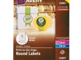 Avery 2 Inch Round Labels Template Avery Permanent Print to the Edge Round Labels Laser