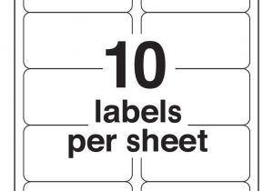 Avery 2×4 Labels Template Avery 10 Labels Per Sheet Template Ondy Spreadsheet