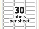 Avery 30 Label Template 5366 Avery Template Complete Folder Labels 2 3 7 16 White 30