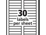 Avery 30 Label Template 5366 Permanent File Folder Labels Trueblock Inkjet Laser Red