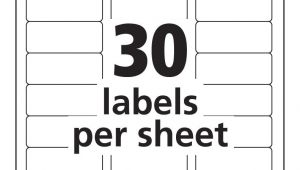 Avery 30 Labels Per Sheet Template 30 Labels Per Sheet Template Avery Templates Resume