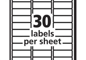 Avery 30 Up Labels Template Review Of Avery Easy Peel Address Labels for Inkjet Printers