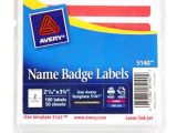 Avery 4×6 Label Template Avery Red Hello Name Badge Label 2 11 32 Quot X 3 3 8 Quot 4×6