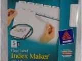 Avery 5 Tab Index Template 11436 New Avery 11436 Clear Label Index Maker Dividers 5 Tabs 5