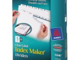 Avery 5 Tab Index Template 11446 Avery 11446 Index Maker Clear Label Dividers 5 Tab S Set