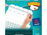 Avery 5 Tab Index Template 11446 Avery Index Maker Clear Label Dividers with White Tabs 5
