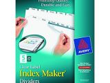 Avery 5 Tab Index Template 11446 Avery Print Apply Clear Label Dividers Index Maker Easy