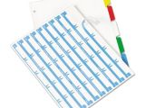 Avery 5 Tab Index Template Ave11406 Avery Index Maker Print Apply Clear Label
