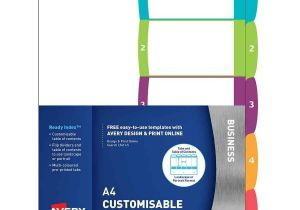 Avery 5 Tab Template 11130 Avery Readyindex Dividers A4 1 5 Indx3005 Cos