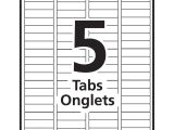 Avery 5 Tab Template 11443 Avery Index Maker Clear Label Dividers Grand toy