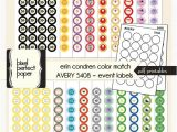 Avery 5408 Template Erin Condren Planner Pdf Printable Color by Pixelperfectpaper