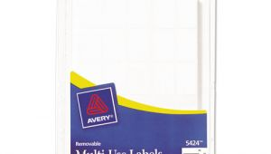 Avery 5424 Template Avery 5424 Removable Multi Use Labels Handwrite Only 5 8