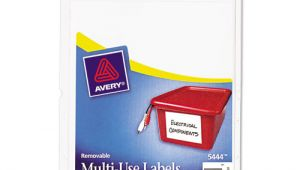 Avery 5444 Template Avery 5444 Removable Multi Use Labels 2 X 4 White 100