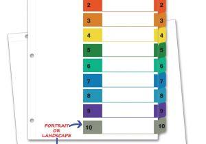 Avery 6878 Template Landscape Indices A4 1 10 Tab Portrait Landscape Lookat Nz Free