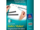 Avery 8 Tab Index Maker Clear Label Divider Template Avery 11443 Clear Label Index Maker Unpunched Dividers
