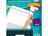 Avery 8 Tab Index Maker Clear Label Divider Template Avery Index Maker Clear Label Divider Ld Products