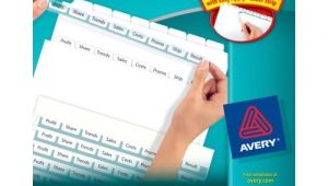 Avery 8 Tab Index Maker Clear Label Divider Template Avery Index Maker Clear Label Dividers Easy Apply Label