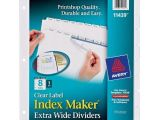 Avery 8 Tab Index Maker Clear Label Divider Template Avery Index Maker Extra Wide Clear Label Dividers White 8