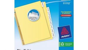 Avery 8 Tab Template 11112 Avery 11112 Big Tab Insertable Dividers 8 1 2 X 11 Quot 8