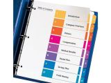 Avery 8 Tab Template 11133 Avery 11133 Ready Index 1 8 Multicolor Tabs 1 Set