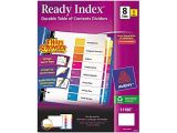 Avery 8 Tab Template 11186 Avery 11186 Ready Index Contemporary Contents Divider 1 8