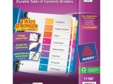 Avery 8 Tab Template 11186 Buy Price Avery Ready Index Table Of Contents Dividers