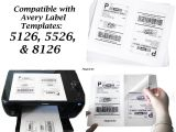 Avery 8126 Label Template 100 Half Page Blank Shipping Labels 50 by Magnicitymailshop