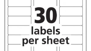 Avery Address Label Template 30 Per Sheet Avery Templates 5160 Antiquebertyl