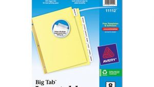 Avery Big Tab 8 Template Avery Insertable Big Tab Dividers Ave11112 Shoplet Com