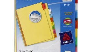 Avery Big Tab Inserts for Dividers 8 Tab Template Avery Big Tab Insertable Dividers 8 Tabs