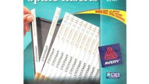 Avery Binder Templates 1 1/2 Inch Avery 1 2 Quot White Binder Spine Inserts 1pk Of 80 89101