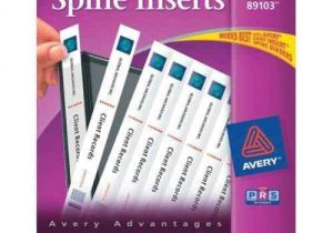 Avery Binder Templates Spine 3 Inch Avery 1 Quot White Binder Spine Inserts 1pk Of 40 89103