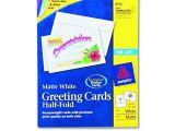 Avery Card Templates Half Fold Avery Dennison Inkjet Matte Printing Label Card
