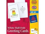 Avery Card Templates Half Fold Avery Greeting Card Ld Products