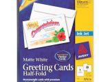 Avery Card Templates Half Fold Avery Half Fold Greeting Card 30 Box Matte
