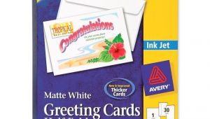 Avery Card Templates Half Fold Avery Half Fold Greeting Card 30 Box Matte