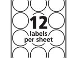 Avery Circle Label Template Avery 22807 Labels