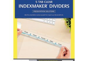 Avery Clear Label Dividers 5-tab Template Avery Indexmaker Dividers A4 5 Tab Cos Complete Office