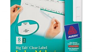 Avery Clear Labels Template Printer
