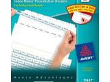 Avery Easy Apply 8 Tab Template Avery Index Maker Clear Label Dividers Easy Apply Label