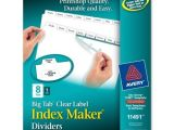 Avery Easy Apply 8 Tab Template Brand New Avery Index Maker with Big Tab Dividers 11491