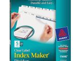 Avery Easy Apply 8 Tab Template Home Office Supplies Binders Accessories Binder