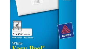 Avery Easy Peel Labels Template 5160 Avery 5160 Easy Peel Address Label 1 Quot Width X 2 62 Quot Length