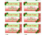 Avery event Ticket Template Templates Certificates Holiday event Tickets 10 Per Sheet