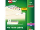 Avery File Folder Label Templates Ave5266 Avery Permanent File Folder Labels Zuma