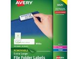 Avery File Folder Label Templates Avery Removable Extra Large File Folder Labels 1 3 Cut